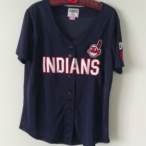 PINK Cleveland Indians mesh top small